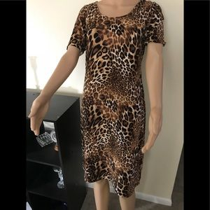 Honey and lace leopard print dress